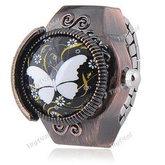 Creative Quartz Watch Ring Watch Timepiece with Butterfly Style for Lady WWM-139754