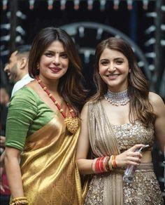 Unseen pic of Priyanka Chopra and Anushka Sharma from Virushka reception! Indian Celebrities, Bollywood Celebrities, Bollywood Fashion, Bollywood Actress, Bollywood Stars, Celebrities Fashion, Indian Dresses, Indian Outfits, Priyanka Chopra Wedding
