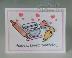 Baked with Love stamp set and matching dies by Lawn Fawn.