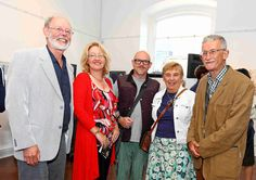 Peter and Anne Jordan with 'thirty' artists Michael Beirne, Carmel Cleary and Joe Hunt. www.noelbrownephotographer.com —  at Garter Lane Arts Centre.