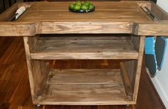4 foot / Industrial reclaimed KITCHEN ISLAND on by ModernRust, $279.00