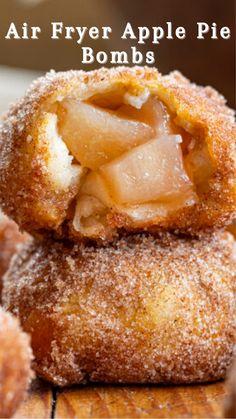 Air Fryer Recipes Dessert, Air Fryer Oven Recipes, Air Frier Recipes, Apple Dessert Recipes, Apple Recipes, Delicious Desserts, Yummy Food, Air Fried Food, Air Frying