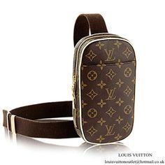 5c6bb7e4e2ea Louis Vuitton M51870 Pochette Gange Hip Pack Monogram Canvas Louis Vuitton  Mens Bag
