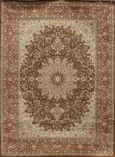 2118 Brown Isfahan Oriental Area Rugs
