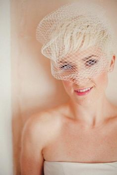 the pixie cut with veil wear your