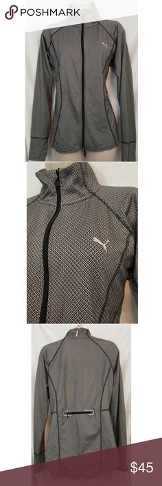 Puma Athletic Running Sport Jacket Excellent Condition Size XL, thumb holes and zip pocket on back Puma Tops Sweatshirts & Hoodies