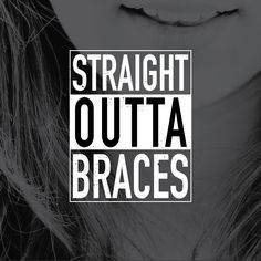 Even after braces keep in mind how we trained ya/ Keep your smile straightâ€. Even after braces ke After Braces, Braces Off, Teeth Braces, Braces Tips, Braces Humor, Dental Humor, Orthodontic Humor, Braces Problems