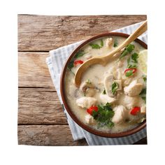 Tom Kha Gai - TCM Soup, Chinese, Ethnic Recipes, Lemon Grass, Traditional Chinese Medicine, Healthy Eating Facts, Kochen, Soups, Soup Appetizers