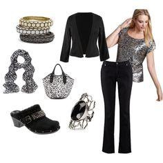 Plus Size Black and Leopard outfit