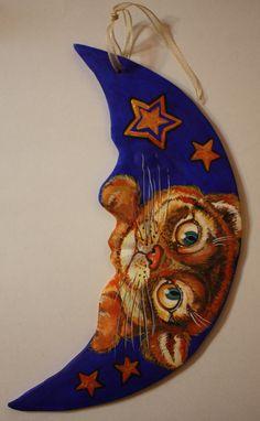 LUNA GATTO porcellana ceramica di atelierdangelone su Etsy