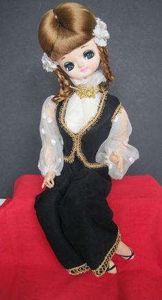 "Bradley Vintage 1960'S 16 1 2"" Seated Doll BIG Eyed"