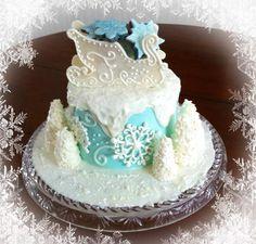 winter wonderland anniversary cake — Anniversary winter wonderland cakes | Wedding Images