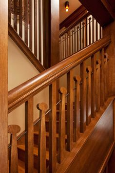 The Language of Arts & Crafts - Whimsical balusters repeat a motif common to some Voysey-inspired homes. Arts And Crafts For Teens, Art And Craft Videos, Arts And Crafts House, Easy Arts And Crafts, Home Crafts, Craftsman Style Homes, Craftsman Bungalows, Art And Craft Design, Design Crafts