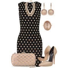 Une magnifique robe noire à pois blanc ! #myfashionlove #tenue #robe #pois #escarpins #BelledeJour www.myfashionlove.com