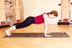 """The Secret To The Perfect Plank #refinery29  http://www.refinery29.com/perfect-plank-push-up-position#slide-3  Step 3: The PlankExtend your other leg, and voilà — plank! Easy-peasy, right?Okay, no. We know; """"easy-peasy"""" this is not. But, you are in proper form. Says Cadence: """"If you've been able to get both legs out without anything changing, then most likely you're feeling like, whoa, my abs are working way more.'""""Once more, take a quick check and..."""