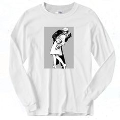 Sailor's Kiss Vintage 90s Long Sleeve Shirt Graphic Tees, Graphic Sweatshirt, Short Models, Different Seasons, 90s Outfit, Out Of Style, Sailor, Going Out, Long Sleeve Shirts