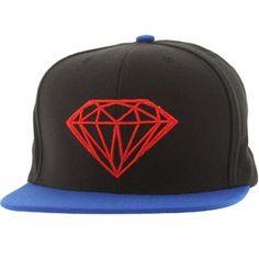Diamond Supply Co Brilliant Snapback Cap (black   blue) B13H298BKBL -   39.99 Diamond Supply ee6c2d0e3c98
