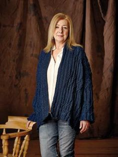 Pembroke - Knit this ladies loose fitting cardigan from DenimThe Next Generation. A design by Martin Storey using Original Denim, a unique yarn that be...