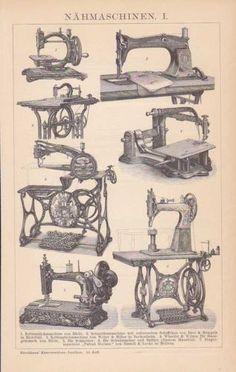 Nähmaschinen Schiffchen Schneidermaschine Stich UM 1898 Singer Wheeler Wilson