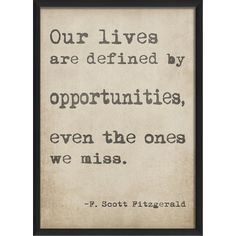 Defined by Opportunities Framed Print