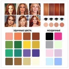 """1. Натуральная «осень»  Яркий рыжий оттенок волос ближе к красному. Кожа имеет красно-оранжевый подтон. Цветотип """"Осень"""" Ваши волосы: медно-русые, рыжие, бронзовые, морковно-рыжие, медные, светло-медные, золотисто-каштановые, тепло-каштановые, темно-коричневые с рыжеватым отблеском. Волосы седеют поздно, аккуратно окутывая каждую прядь в светлые лучики золотисто-желтого тона. Цвет брови сопоставим с цветом волос и всегда с золотистым или рыжеватым нюансом."""