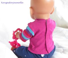 Ompele Baby Bornin vaatteet Sissi, Baby Born, Hooded Jacket, Athletic, Couture, Dolls, Hoodies, Sewing, Knitting