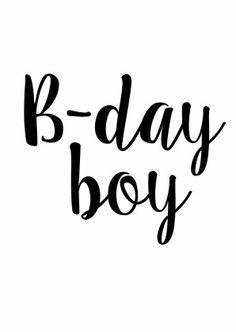 Verjaardagskaart B-day Boy 1