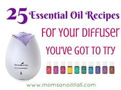 You've Got To Try These 25 Essential Oil Recipes for Your Diffuser! Do you have a collection of Young Living Essential Oils sitting in your cabinet that you're not quite sure what to do with? Or maybe you've just received your Home Diffuser in your Premium Starter Kit and your… Continue reading