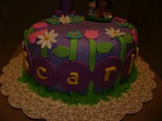cake i made for cousin's daughters b-day