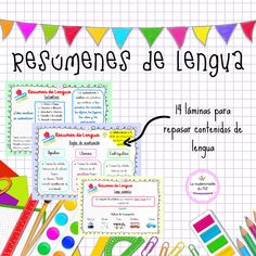 Grammar, Notebook, Bullet Journal, Writing, My Favorite Things, Blog, Infant Learning Activities, Text Types, Spanish Language