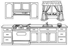 Fotó: amoblamiento de cocina para colorear Boyama kitapları Boyama sayfaları Desenler