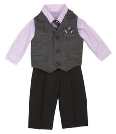 Ring bearer idea... I like that it isn't the full thing, he should be comfortable!