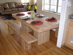 Dining Table  Reclaimed Solid Boxcar Oak by WickedBoxcar on Etsy, £1850.00