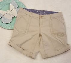 Womens Maurices Beige Khaki Cuffed Bermuda Walking Shorts Size 9/10 #150 | Clothing, Shoes & Accessories, Women's Clothing, Shorts | eBay!