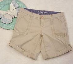 Womens Maurices Beige Khaki Cuffed Bermuda Walking Shorts Size 9/10 #150   Clothing, Shoes & Accessories, Women's Clothing, Shorts   eBay!