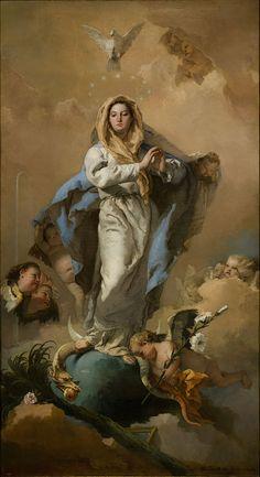 L'Immacolata Concezione di Giovanni Battista Tiepolo http://it.wikipedia.org/wiki/Immacolata_Concezione