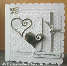 A Life of Continuous Small Treats: Silver wedding card