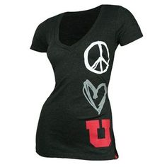 Utah Utes Women's Abyss  T-Shirt. Perfect for the Blackout Game