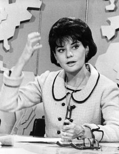 """A young Barbara Walters started on the Today Show as """"The Today Girl,"""" doing women's interest spots (and later did the weather). Hugh Downs was the lead anchor at that time - 1962 Celebrities Then And Now, Young Celebrities, Celebs, Indiana, Barbara Walters, Newscaster, Old Tv Shows, Today Show, My Legacy"""