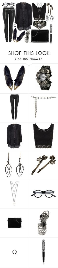 """""""Senza titolo #93"""" by imnotperky ❤ liked on Polyvore featuring CÉLINE, Jay Ahr, Topshop, Annette Ferdinandsen, MANGO, STELLA McCARTNEY and Montegrappa"""