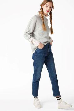 Monki Image 4 of Kimomo jeans in Blue Dark