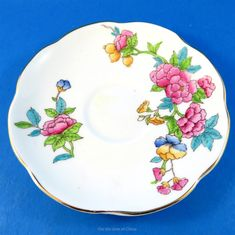 Handpainted Floral Design Foley Tea Cup and Saucer Set | Antiques, Decorative Arts, Ceramics & Porcelain | eBay!