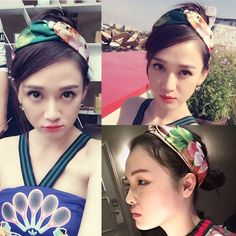 Elegant lady geranium flowers letters silk satin elastic hair band Korea jewelry many styles available beautiful headcloth