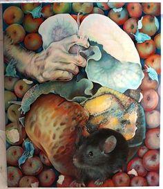"""Saatchi Art Artist GABRIELA CRISTU; Painting, """"FORBIDDEN FRUIT"""" #art"""