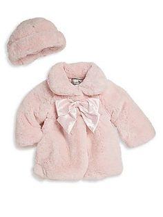 8c33a32188b3 Widgeon Baby's Two-Piece Faux Fur Coat & Hat Set