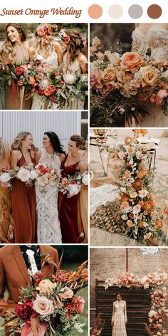 10 Trending Theme Colors for 2019 Wedding - Pro Wedding Invites - Fall wedding ideas - Orange Wedding Colors, Fall Wedding Colors, Wedding Color Schemes, Fall Wedding Themes, October Wedding Colors, Burnt Orange Weddings, Colour Themes For Weddings, Wedding In October, Color Palette For Wedding