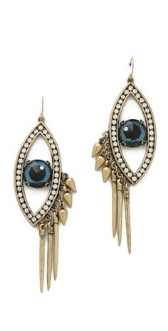 """How amazing are these uniquely made """"Evil Eye"""" earrings?! 