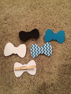 baby shower clothespin bow tie - Google Search
