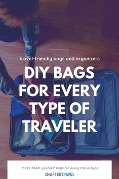 Even when we're all going to the same place, everyone travels a little bit differently. Whether you travel light or prefer to bring every last item in your closet, you're going to need bags to keep your suitcase organized. From travel-friendly laundry bags to DIY purse organizers, here are our favorite make-them-yourself bags for every travel type. Diy Purse Organizer, Purse Organization, Organizers, Travel Light, Packing Tips, You Bag, Laundry Bags, Suitcase, Type