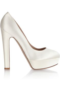 If/when I get married, these are the shoes ;) Valentino Satin platform pumps NET-A-PORTER.COM $675